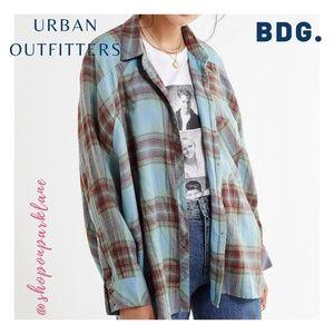 Urban Outfitters BDG Brendan Drapey Flannel Shirt